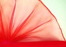 Organza šerpa - červená