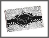 Čokoládka svatební tabulka - ornament 7 - černá