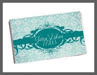 Čokoládka svatební tabulka - ornament 7 - tyrkysová