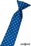 Kravata chlapecká - modrá s puntíky