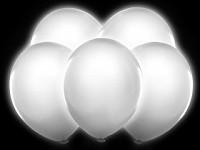 Balonky bílé svítící LED - 5 ks