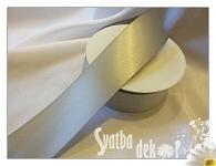 Stuha saténová 6 mm - šedá 1m