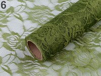 Krajka dekorační trávní zelená rose - 48 cm/4 m