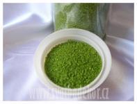 Dekorační písek  - zelené jablko jemný