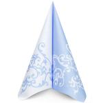 Ubrousek 40x40 cm Airlaid Duo modro-bílý - 1ks