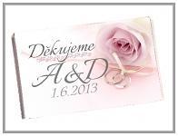 Čokoládka svatební tabulka - rose