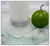 Diamantový pás šíře 3 cm /1 m - stříbrný