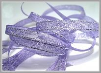 Stuha lurexová 6 mm - fialová - 1m