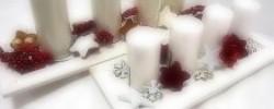 adventní svícny a podložky
