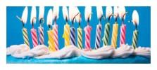 dortové fontány a svíčky